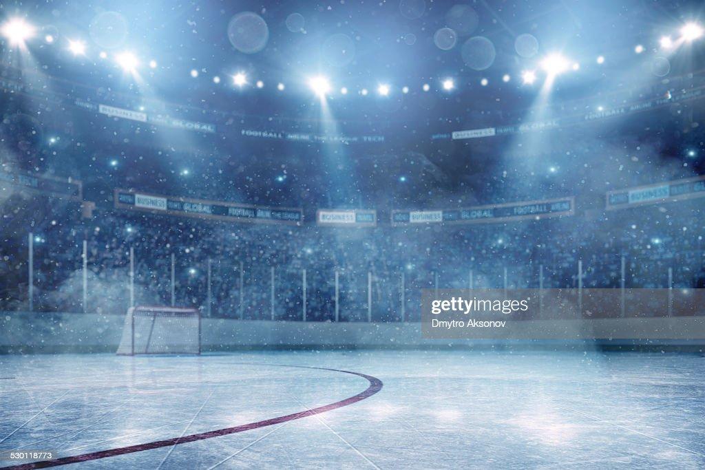 Dramatic ice hockey arena : Stockfoto