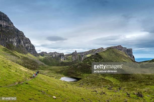 Dramatische Landschaft der Quiraing, Isle Of Skye. Schottland