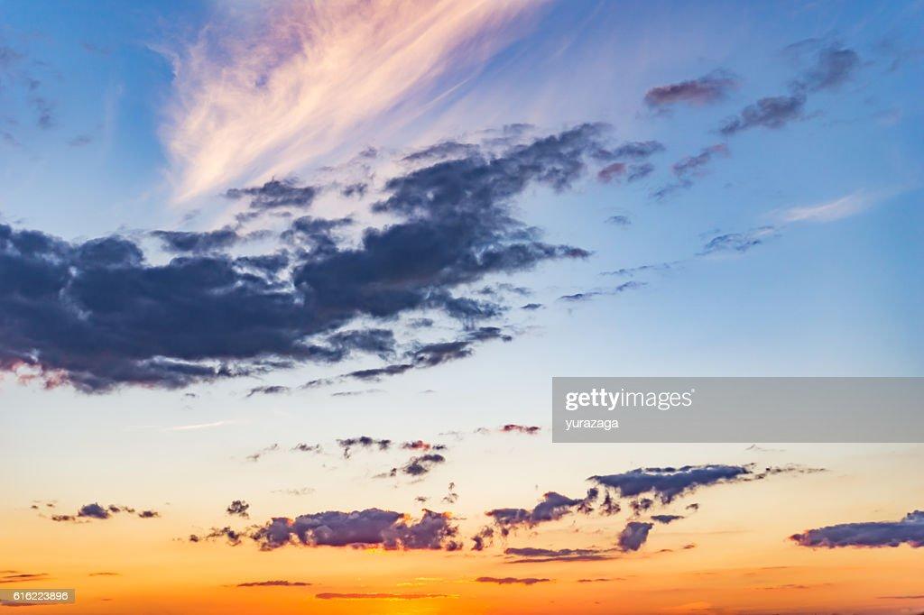 Dramatic landscape sunset : Stock Photo