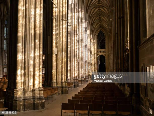 Dramatic light inside the Canterbury Cathedral