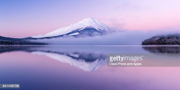 dramatic morning - mt fuji stock photos and pictures
