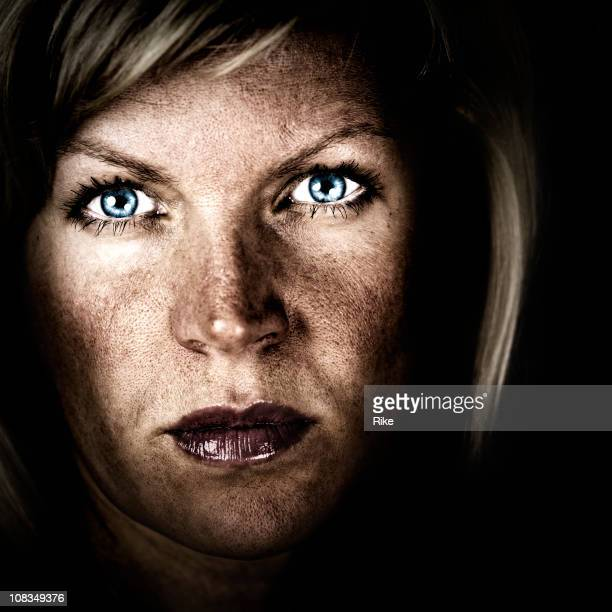 dramatic portrait - high contrast stock pictures, royalty-free photos & images