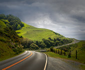 Dramatic Road Through Hilly Country