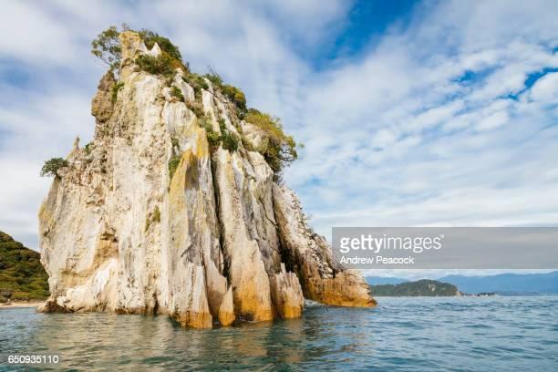 Dramatic rocky coastline of Abel Tasman National Park