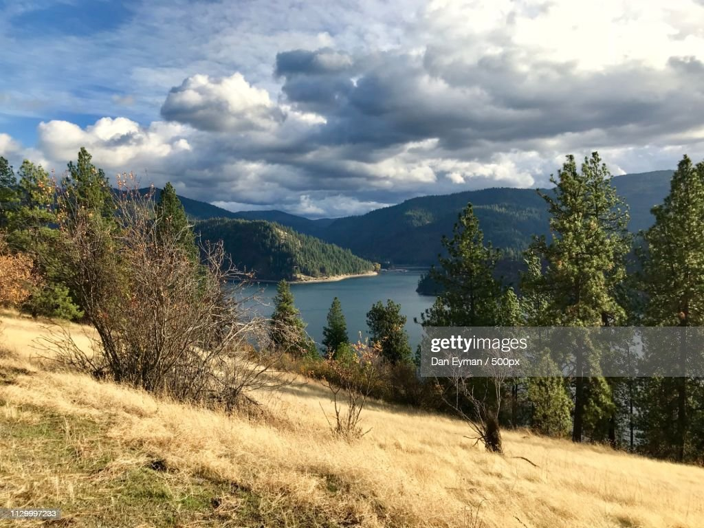 Dramatic Skies Over The Lake : Stock Photo