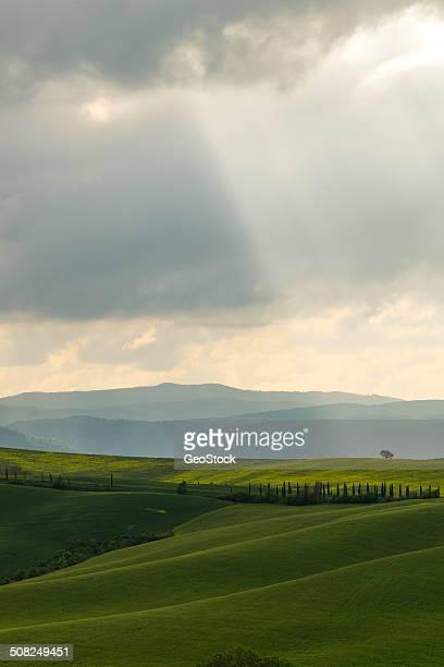 Dramatic skies over Tuscany