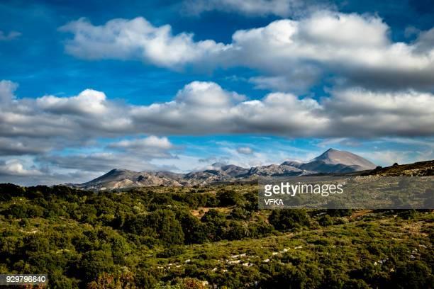 Dramatic sky above Mount Ida (Psiloritis mountains), Crete, Greece