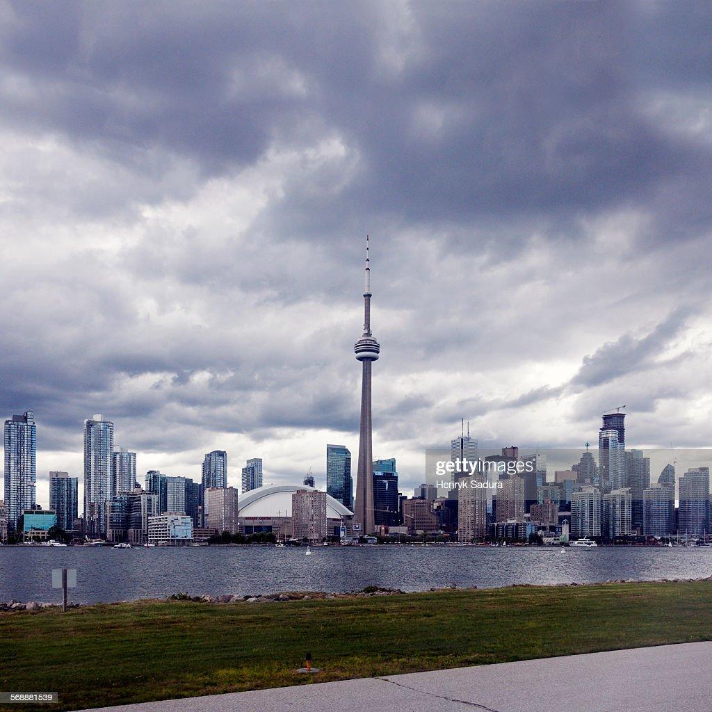 Dramatic sky above Toronto : Stock Photo
