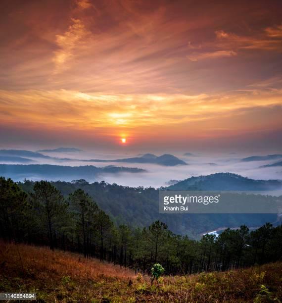 dramatic sky at dawn