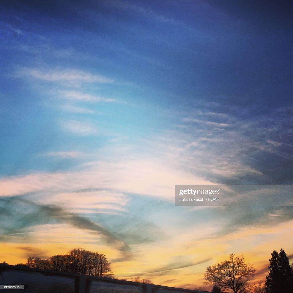 Dramatic sky at dawn : Stock Photo