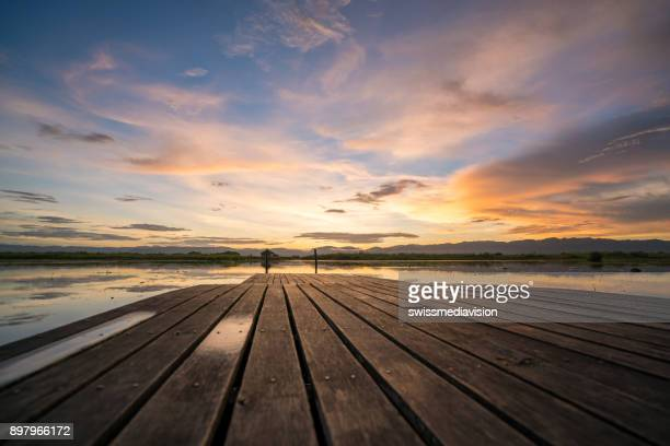 Dramatic sky at sunset, Inle lake, Nyaungshwe, Myanmar