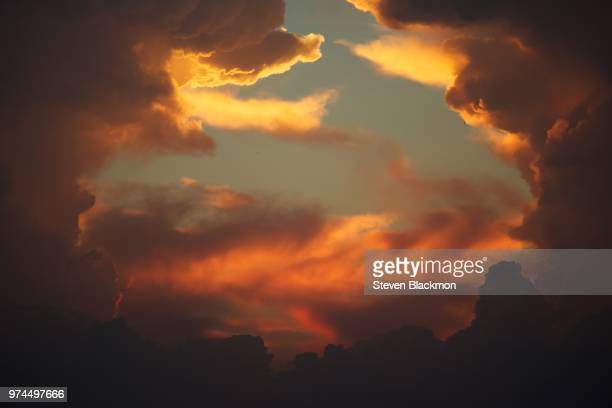 dramatic sky at sunset, new orleans, louisiana, usa - hell stock pictures, royalty-free photos & images