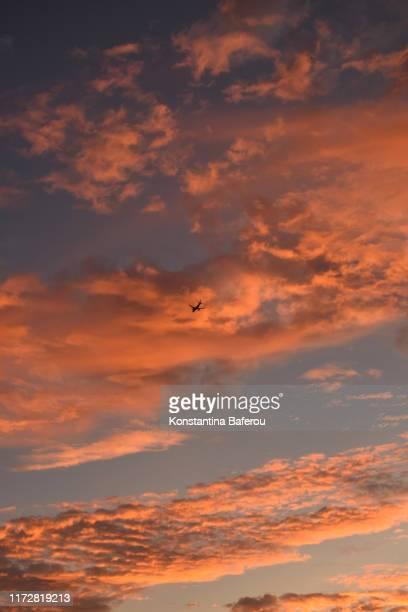 orangecolored clouds
