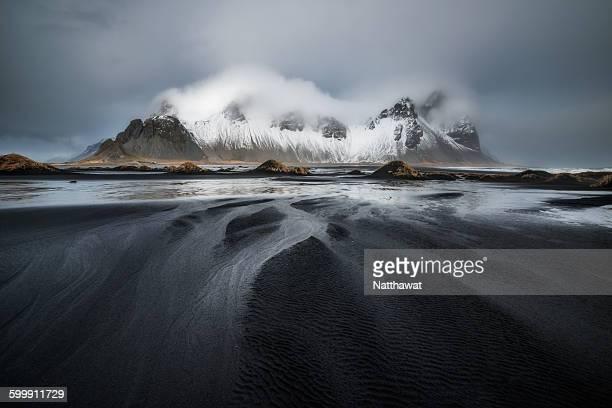 Dramatic Sky at Vestrahorn Mountain Iceland