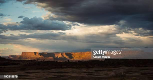 dramatic sky, canyonlands national park,  colorado plateau. - canyonlands national park stock pictures, royalty-free photos & images
