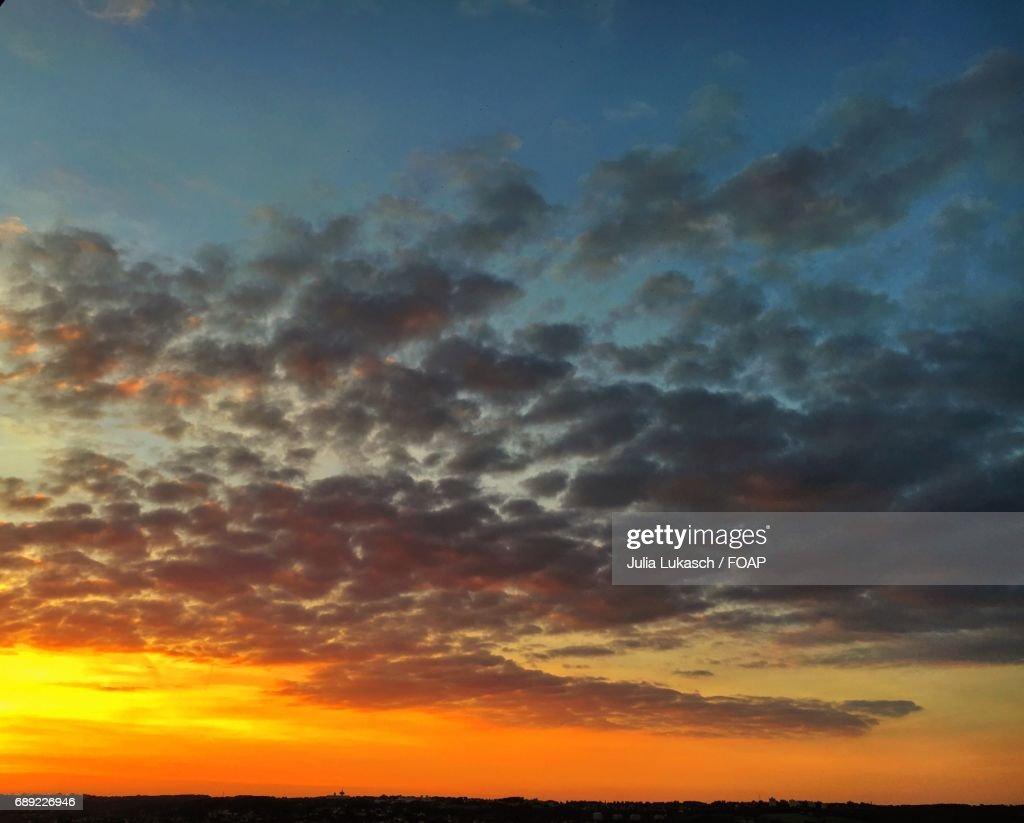 Dramatic sky during sunset : Stock Photo