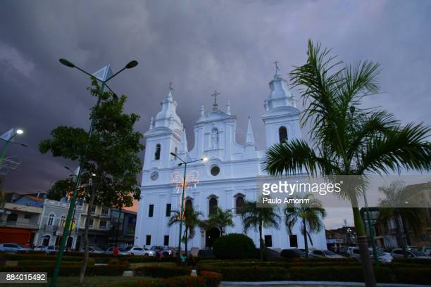 Dramatic sky in the old colonial town of Belem,Amazon