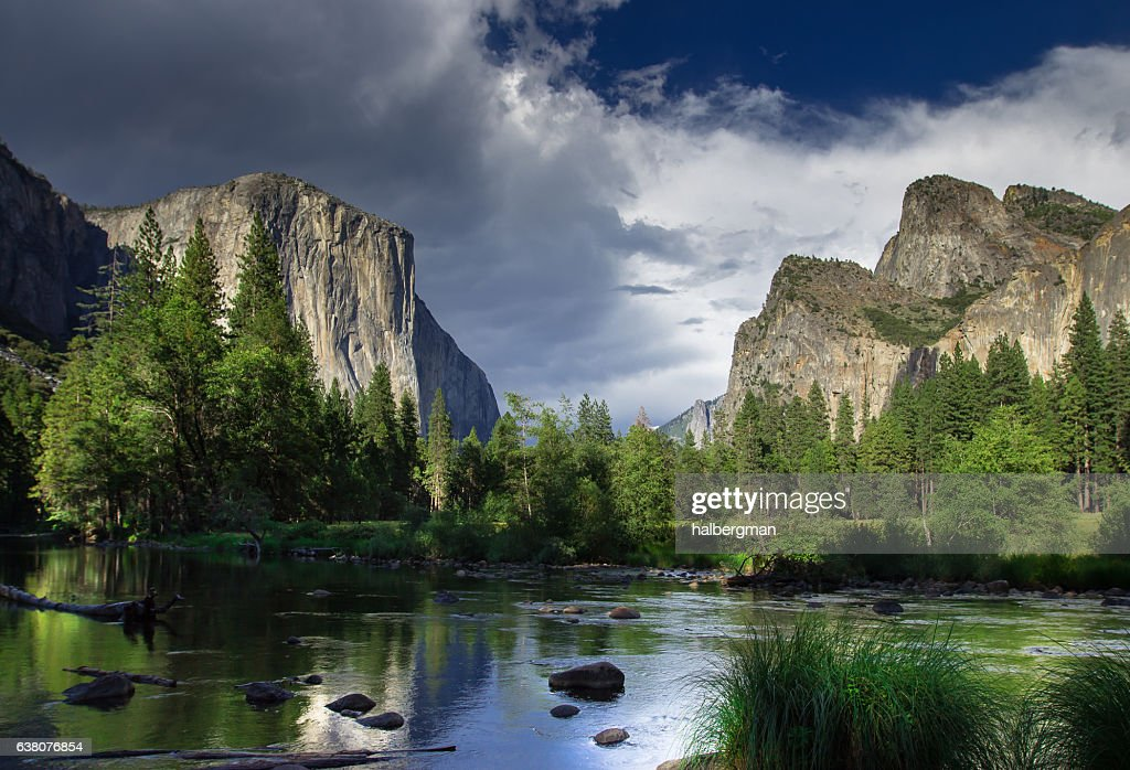 Dramatic Sky Over El Capitan, Yosemite National Park : Stock Photo