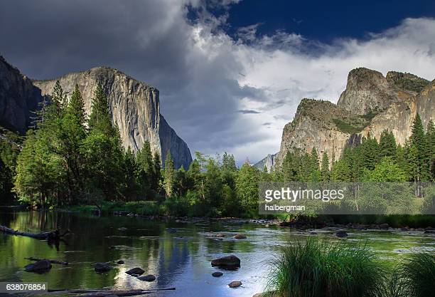 dramatic sky over el capitan, yosemite national park - dramatic landscape stock pictures, royalty-free photos & images