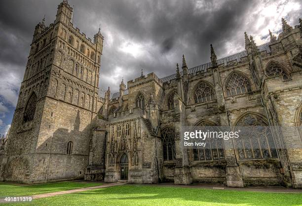 Dramatic sky over Exeter Cathedral