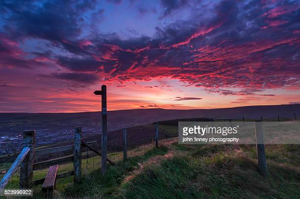 Dramatic sky over the English Peak District.