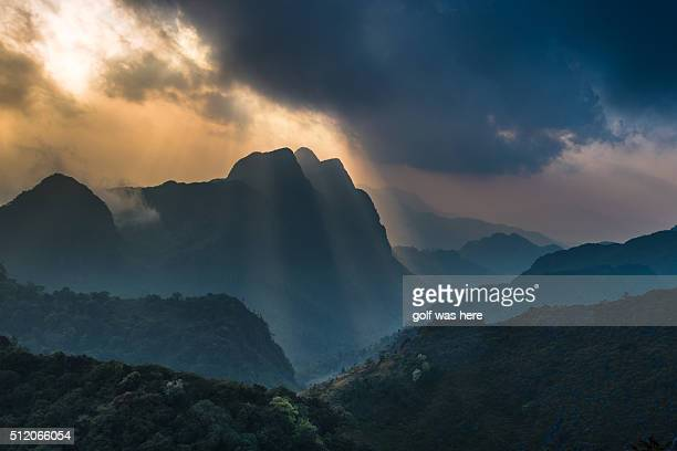 Dramatic sky over the mountain