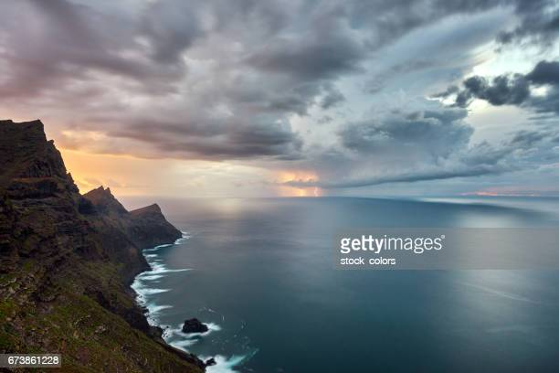 dramatic sky over the sea