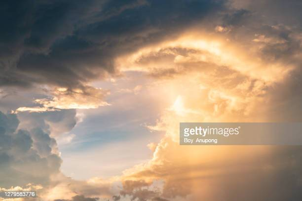 dramatic sky when the storm is coming. - dramatic sky stock pictures, royalty-free photos & images