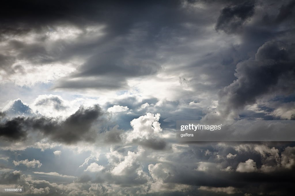 dramatic sky with rain clouds : Stock Photo