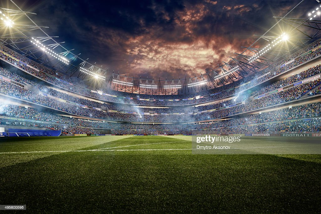 Dramatic Soccer Stadium Stock Photo | Getty Images