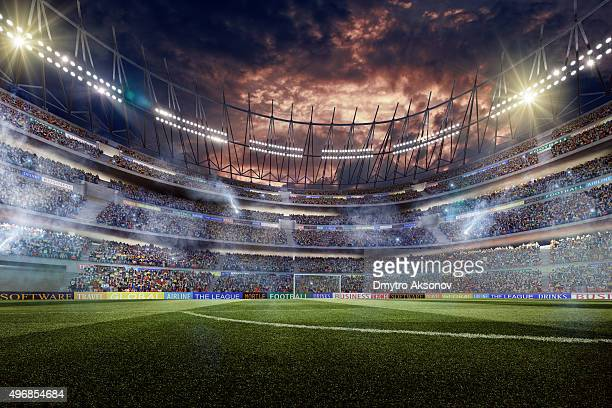 dramatic soccer stadium - fan enthusiast stock pictures, royalty-free photos & images