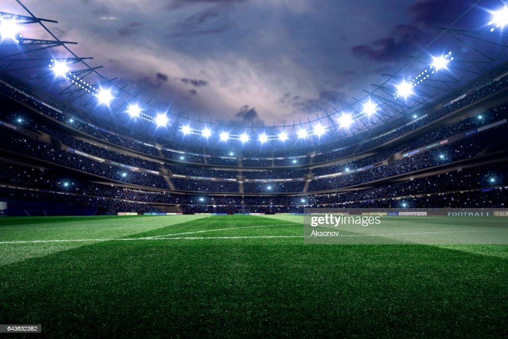 Dramatic soccer stadium : Stock Photo