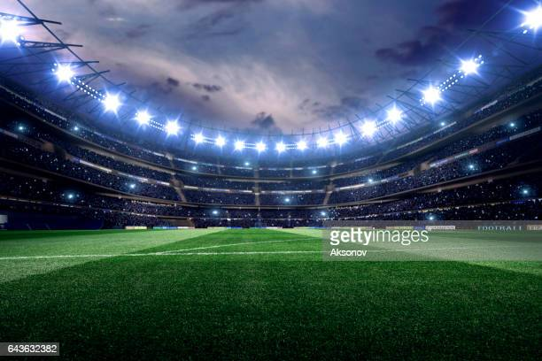dramatic soccer stadium - soccer stock pictures, royalty-free photos & images
