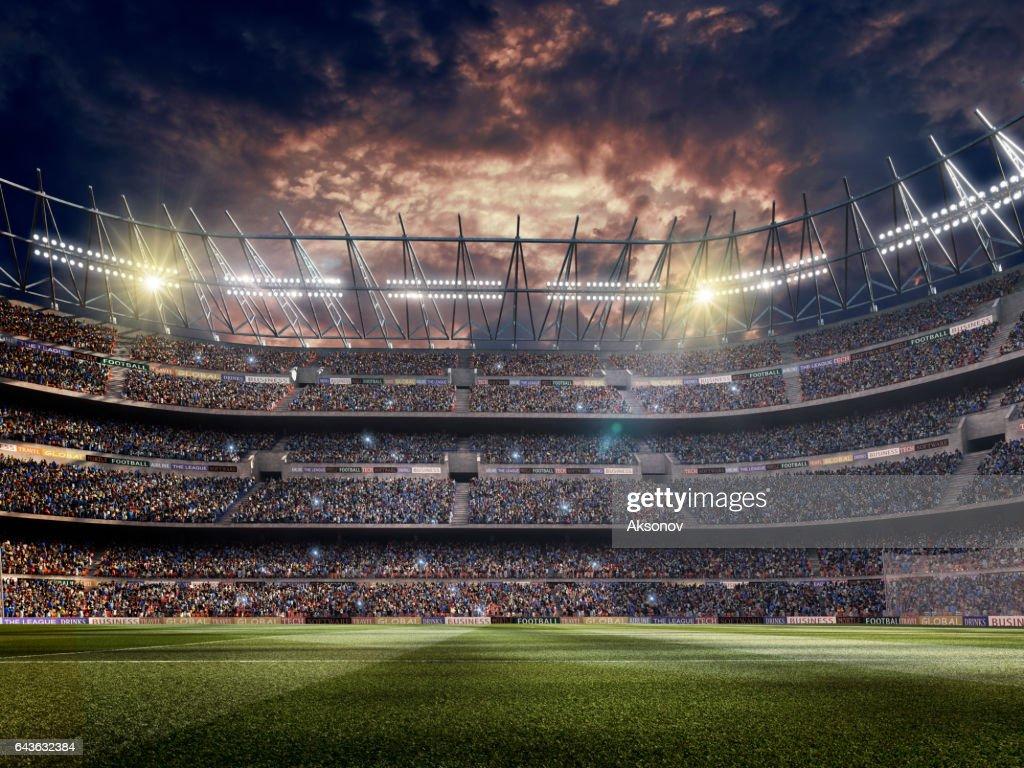 Beeindruckende Fußballstadion  : Stock-Foto