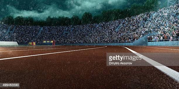 Spektakuläre Olympiastadion und Regen