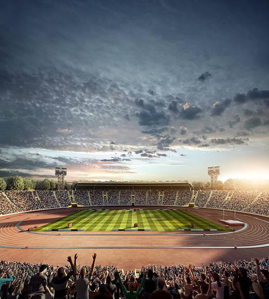 Dramatic . Stadium With Running Tracks Wall Art