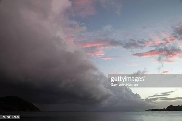 Dramatic storm cloud approaching coastline, St.Thomas, US Virgin Islands