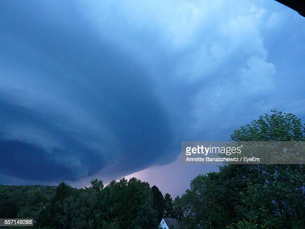 Dramatic Storm Cloud Over Tree Tops