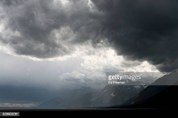 Dramatic Storm Clouds and Mountains