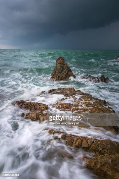 Dramatic Stormy Dark Cloudy Sky Over Sea