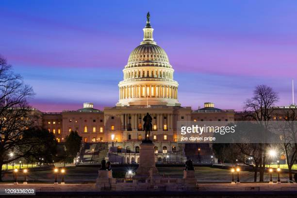dramatic sunrise, united states capitol, washington dc, america - state capitol building stock pictures, royalty-free photos & images