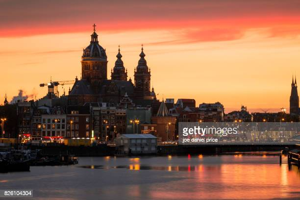 Dramatic Sunset, Amsterdam, Holland