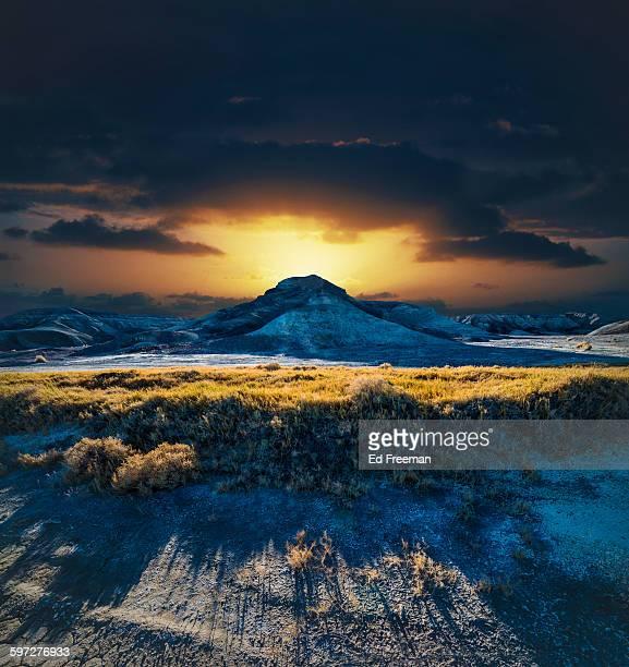 Dramatic Sunset in the Desert