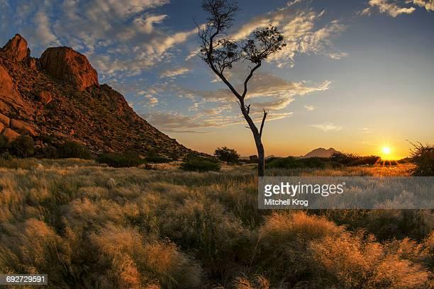 Dramatic Sunset Landscape Photo of Spitzkoppe, Erongo Region, Namibia