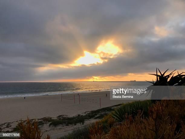 Dramatic Sunset on Manhattan Beach, California