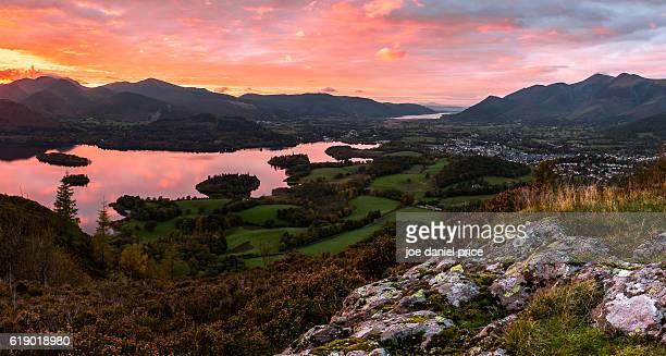 Dramatic Sunset, Walla Crag, Derwent Water, Keswick, Lake District, Cumbria, England