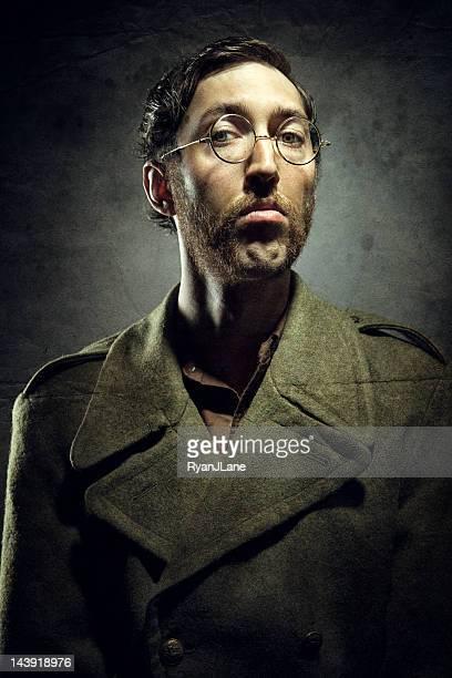 Superbe Vintage Portrait d'homme