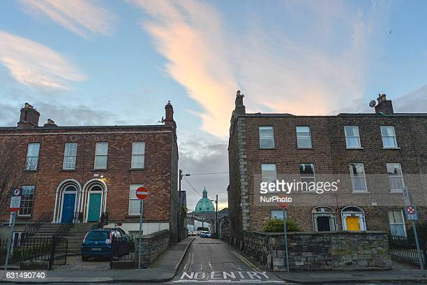 A dramatically changing sky over Dublin Ireland on 11 January 2017 An Met Eireann forecast that temperatures will begin to drop from this evening in...