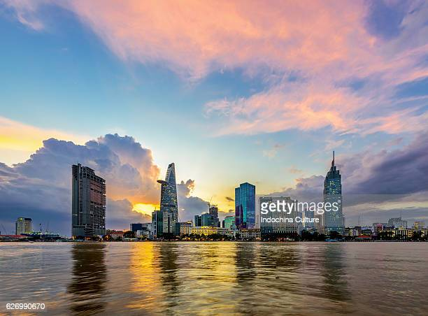 Drammatic Sunset of Saigon skyline
