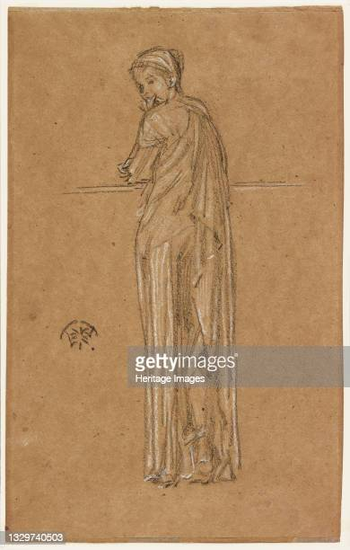 Draped Figure Standing, 1870-1873. Artist James Abbott McNeill Whistler.